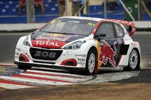 Pocta za druhé místo v rallycrossu pro Team Peugeot Hansen