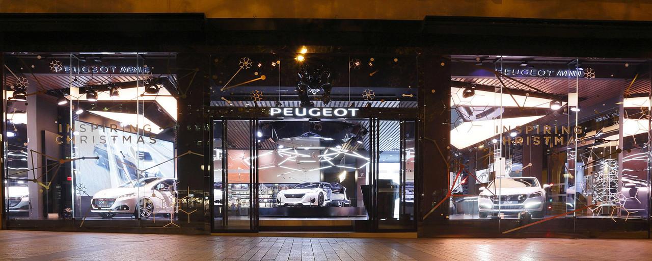 Peugeot Avenue - Brand Room Peugeot durant l'exposition Inspiring Christmas