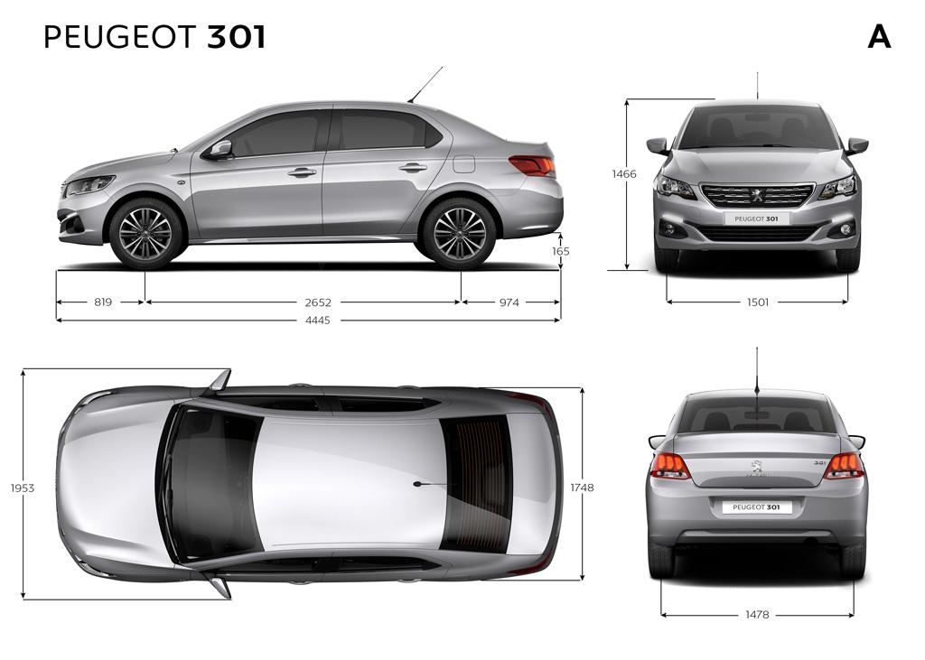 Nový, moderně vybavený Peugeot 301 jde s dobou